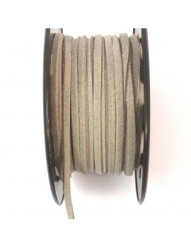 Daim 3 mm gris clair - 50 cm