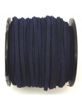 Daim 3 mm bleu marine - 50 cm