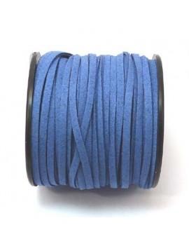 Daim 3 mm bleu jean - 50 cm