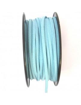 Daim 3 mm bleu turquoise -...