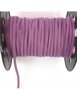 Daim 3 mm violet - 50 cm