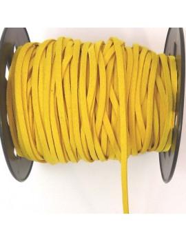 Daim 3 mm jaune - 50 cm