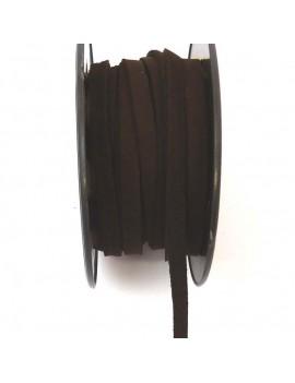 Daim 6 mm chocolat - 50 cm