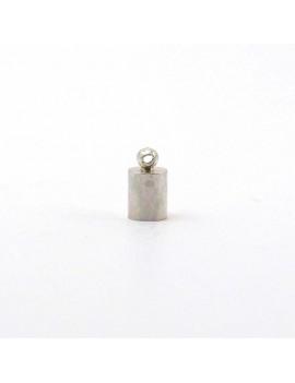 Embout à coller lisse 4 mm argent vieilli