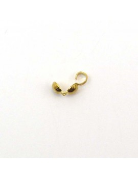 Cache-noeud 4 mm doré