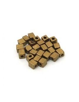 Cubes Miyuki 4 mm bronze...
