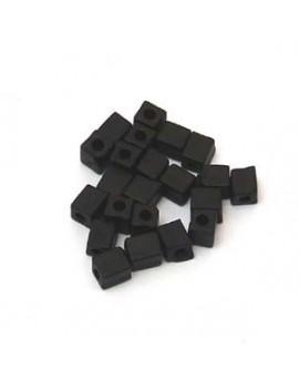 Cubes Miyuki 4 mm noir mat...