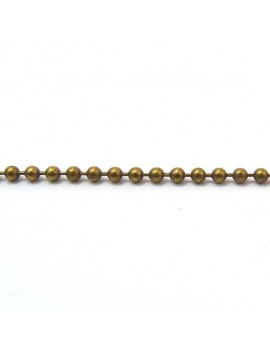 Chaine boule 2 mm bronze -...
