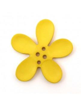 Bouton orchidée 40 mm jaune