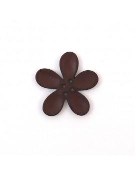 Bouton orchidée 30 mm chocolat