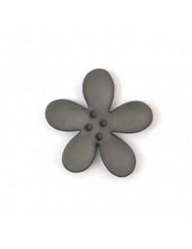 Bouton orchidée 30 mm gris...