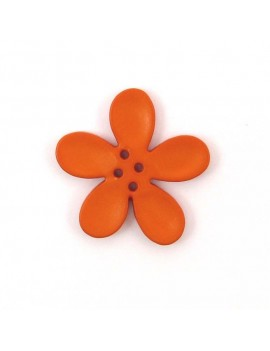 Bouton orchidée 30 mm orange