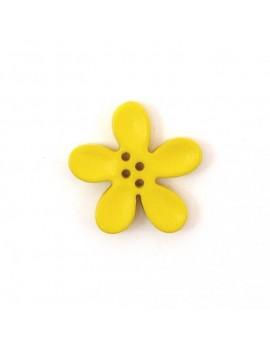 Bouton orchidée 20 mm jaune