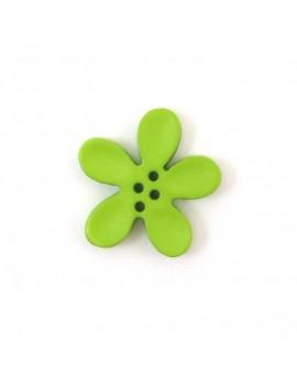 Bouton orchidée 20 mm vert pomme