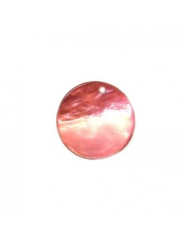 Sequin en nacre fuchsia 20 mm