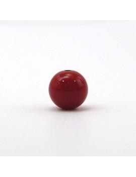 Perle 12 mm rouge foncé