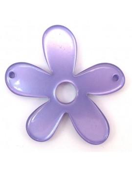 Fleurs 58 mm 2 trous violet...