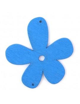 Fleur en bois 56 mm 2 trous...
