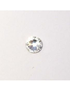 Strass plat 6,50 mm cristal...