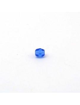 Perle à facettes bleu foncé...