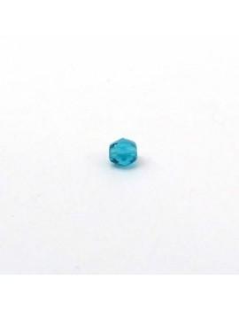 Perle à facettes turquoise...