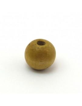 Perle bois 16 mm naturel