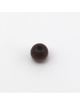 Perle bois marron foncé 8 mm