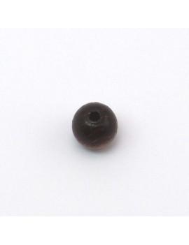 Perle bois marron foncé 10 mm