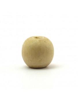 Perle bois naturel 15 mm