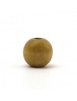 Perle bois naturel foncé 15 mm