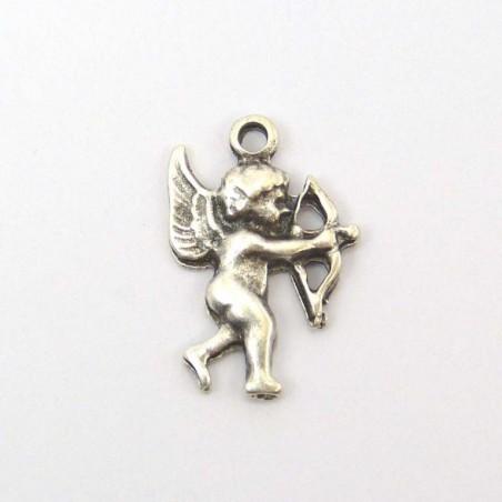 Cupidon argent vieilli 20x14 mm