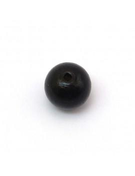 Perle bois noir 15 mm