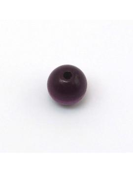 Perle bois prune 12 mm