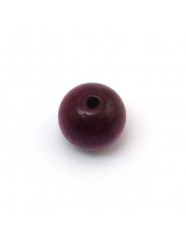 Perle bois prune 15 mm