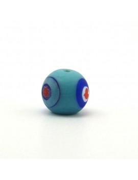 Perle ronde bleue 12 mm