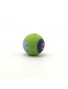 Perle ronde verte 12 mm
