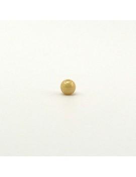 Perle ronde beige 4 mm