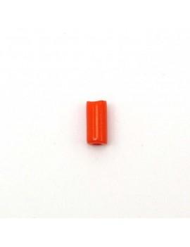 Perle tube orange 4x8 mm