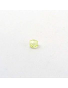 Perle à facettes jaune 4 mm