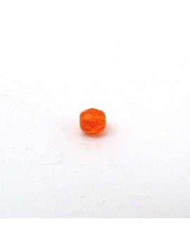 Perle à facettes mandarine 4 mm