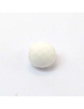 Perle à facettes blanc...