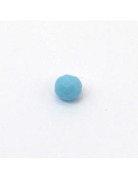 Perle à facettes Bleu ciel...