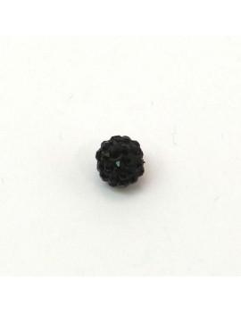 Perle strass 8 mm noir