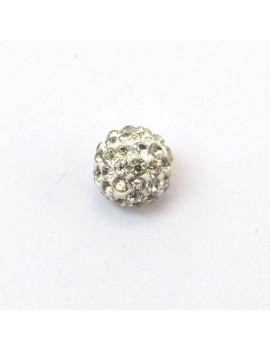 Perle strass 10 mm cristal
