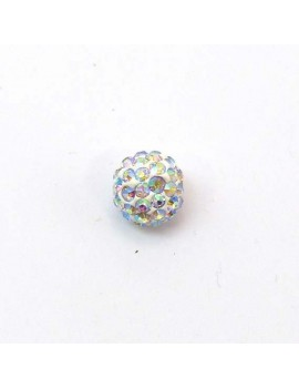 Perle strass 10 mm cristal AB