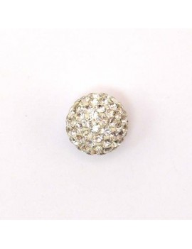 Perle strass 12 mm cristal