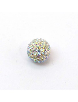 Perle strass 12 mm cristal AB