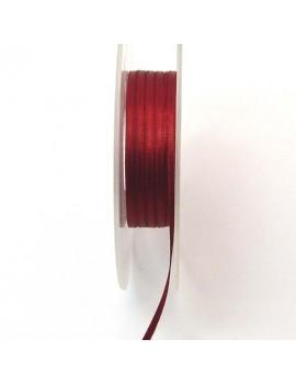 Ruban de satin 3 mm rouge -...