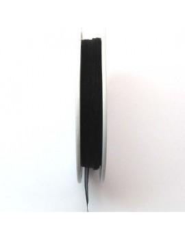 Ruban organdi 3 mm noir -...