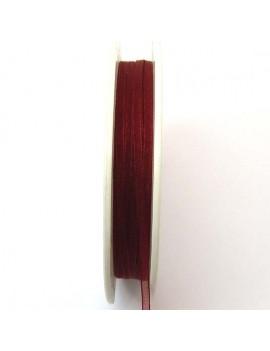 Ruban organdi 3 mm rouge -...